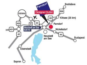 Parndorf mapa