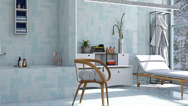 Relaxace v koupelně s masážním panelem